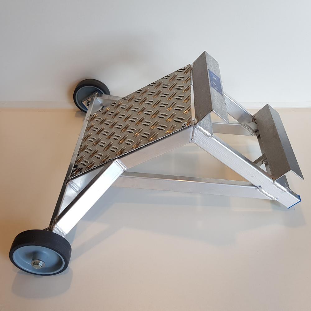 ASC Ladder wandafstandshouder aluminium met traanplaat