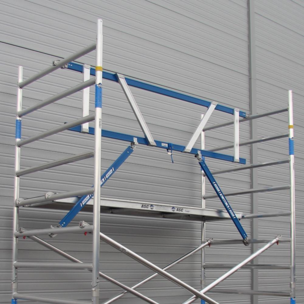 ASC Rollgerüst mit Montageschutzgeländer 135-305 x 14,2 m Arbeitshöhe