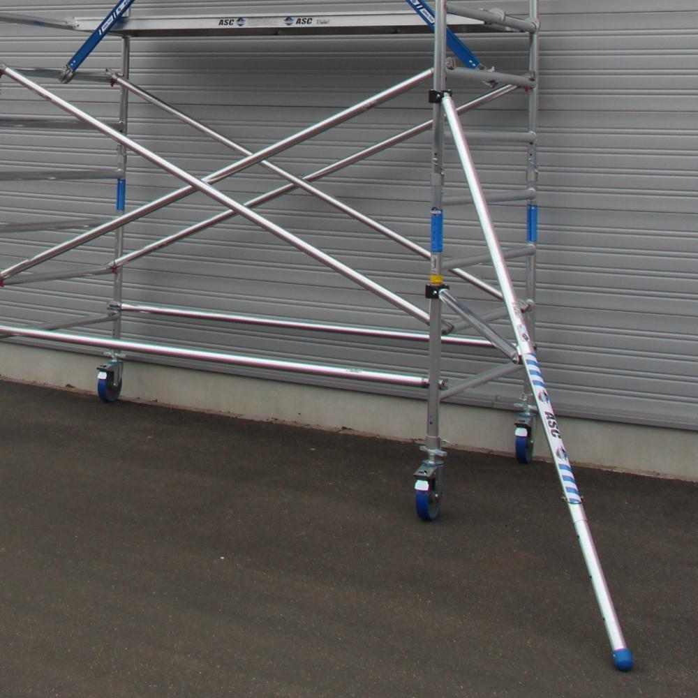 ASC Rolsteiger voorloopleuning enkel 135 x 305 x 8,2 m werkhoogte