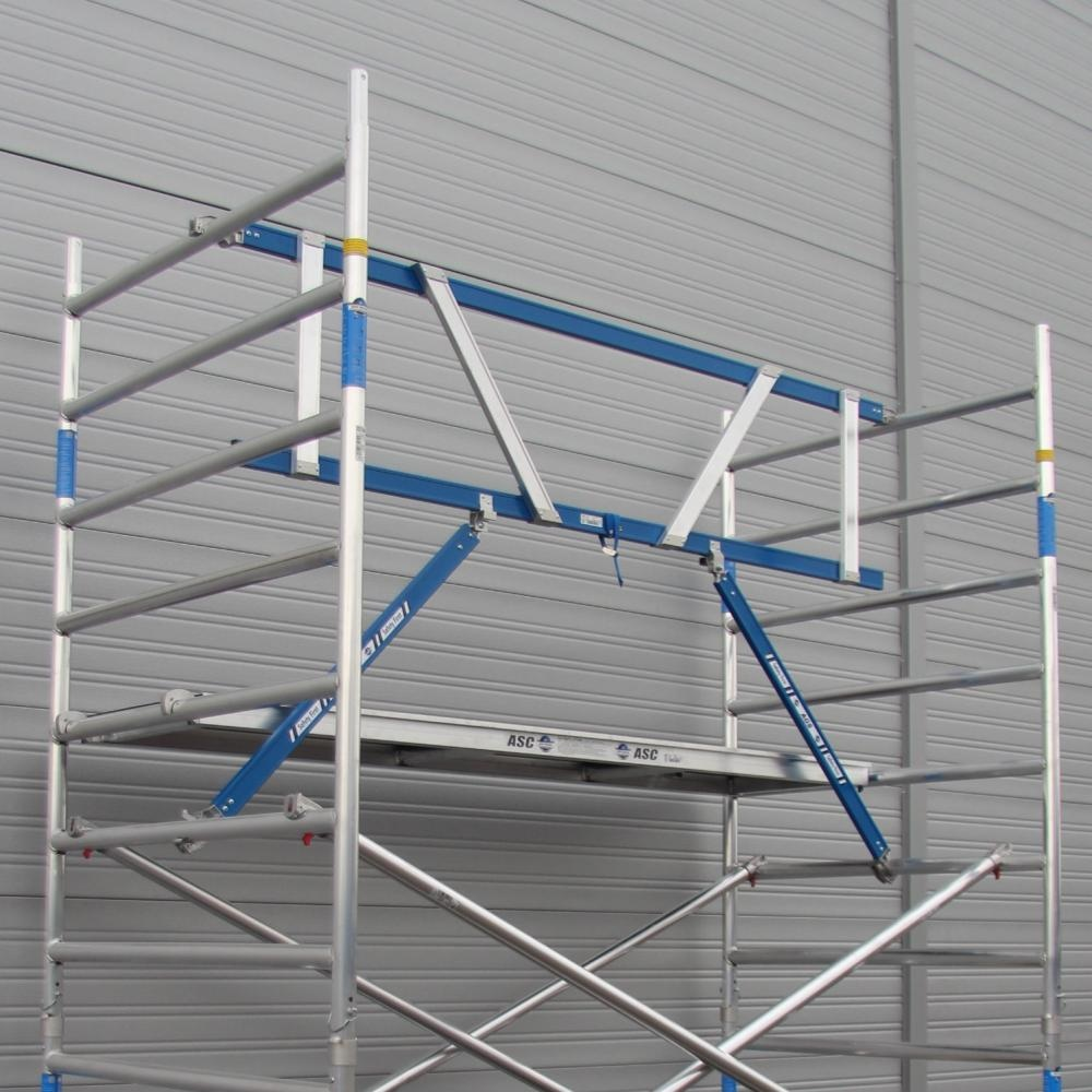 ASC Rolsteiger voorloopleuning enkel 135 x 250 x 9,2 m werkhoogte