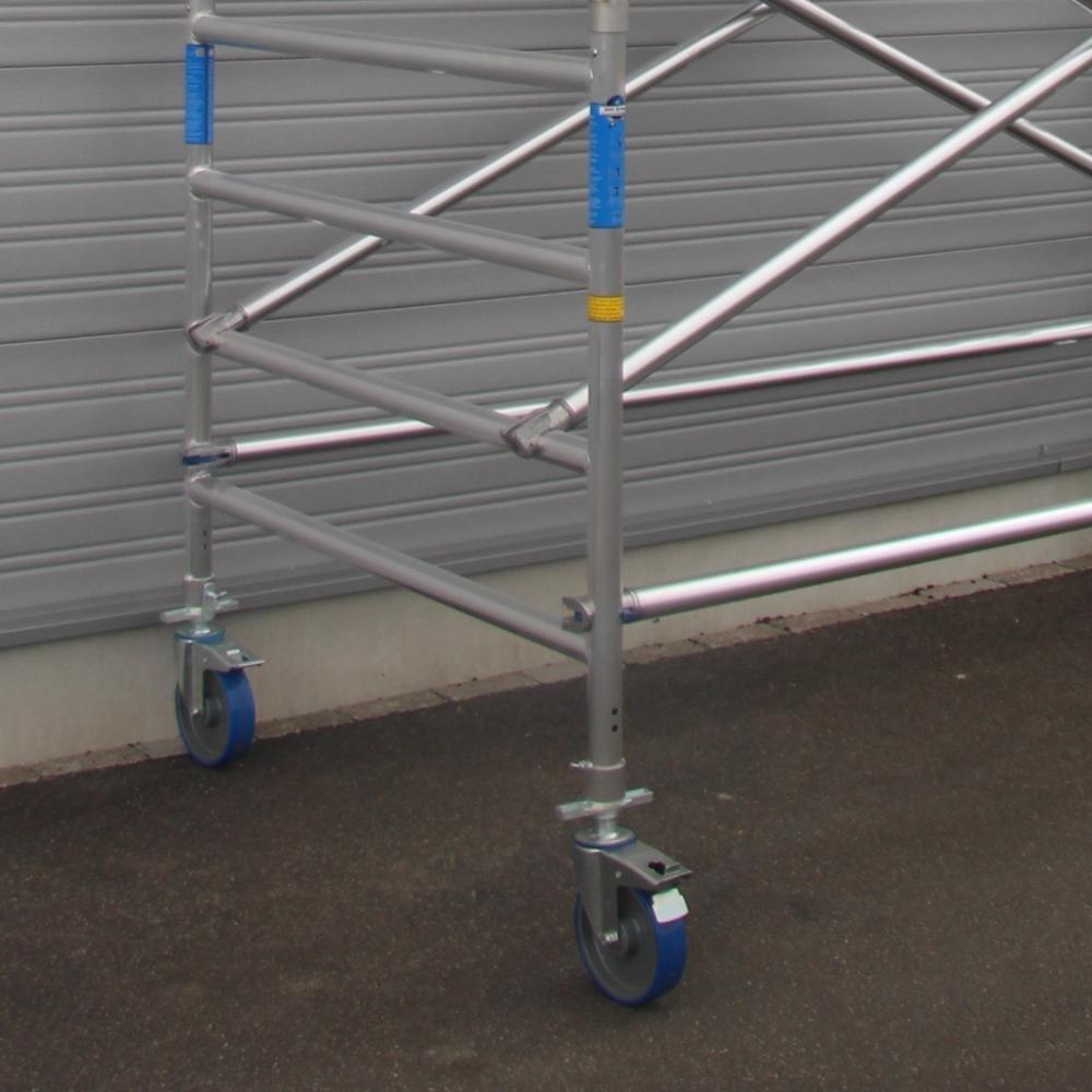ASC Rollgerüst mit Montageschutzgeländer 135-250 x 8,2 m Arbeitshöhe