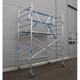 ASC Rollgerüst mit Montageschutzgeländer 135-250 x 4,2 m Arbeitshöhe