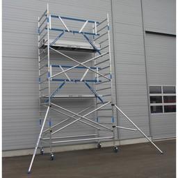 ASC Rollgerüst mit Montageschutzgeländer 135-250 x 6,2 m Arbeitshöhe