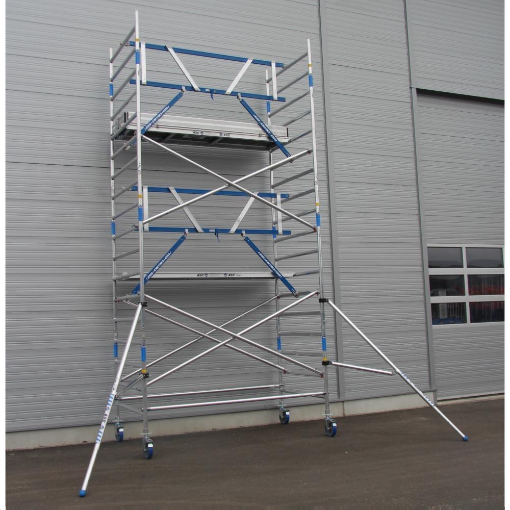 ASC Rolsteiger voorloopleuning enkel 135 x 250 x 6,2 m werkhoogte
