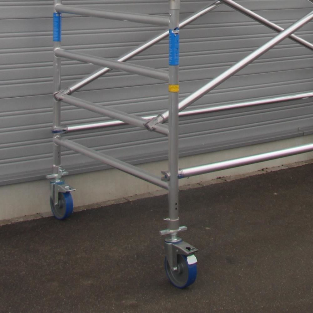ASC Rolsteiger voorloopleuning enkel 135 x 190 x 4,2 m werkhoogte