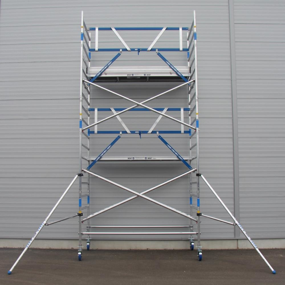ASC Rolsteiger voorloopleuning enkel 135 x 190 x 6,2 m werkhoogte