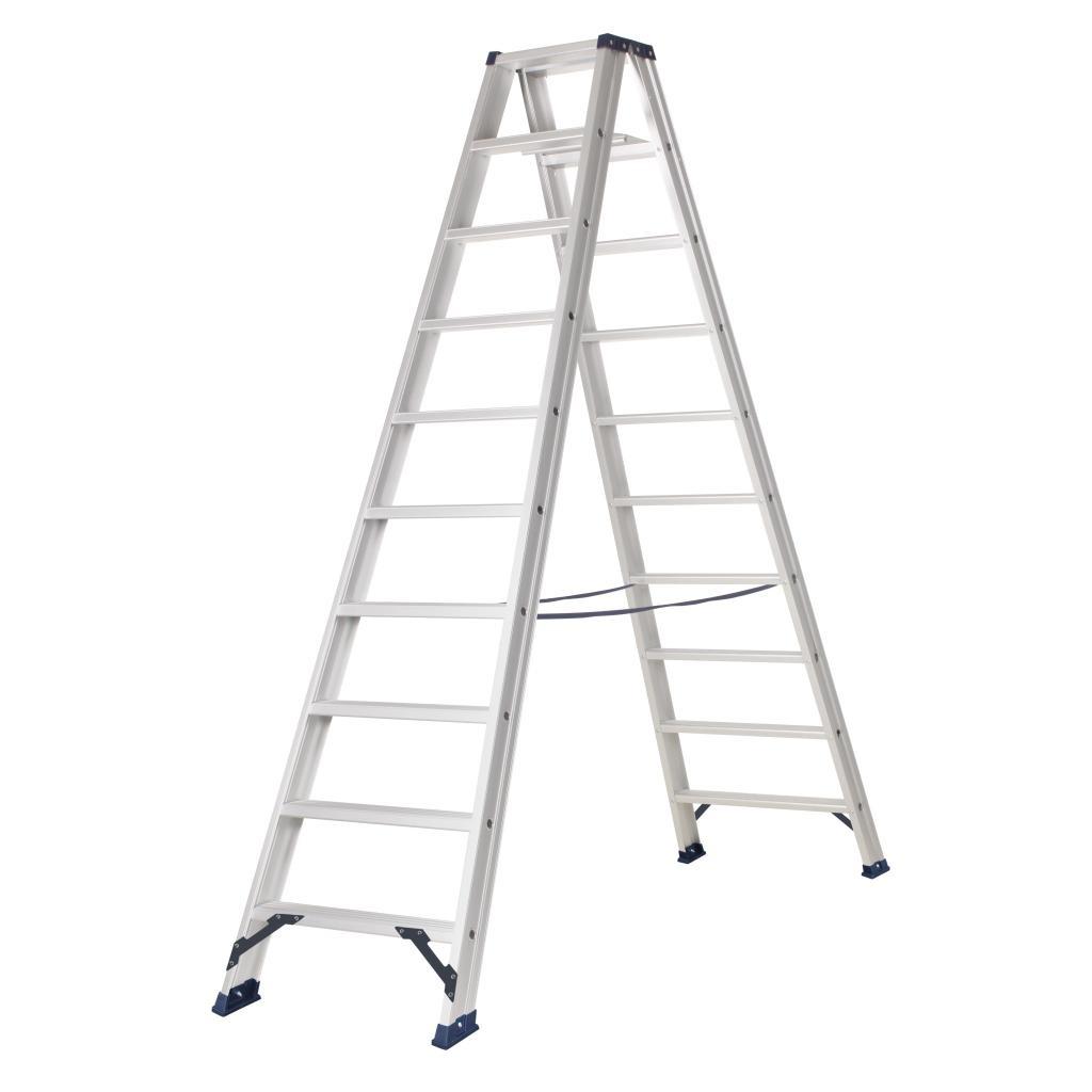Das Ladders Das Hercules ano Stehleiter beidseitig begehbar 2 x 10 Sprossen DT10A