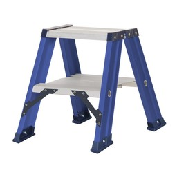 Das Ladders Das Hercules blue Doppel-Klapptritt 2x2 Stufen DT2B