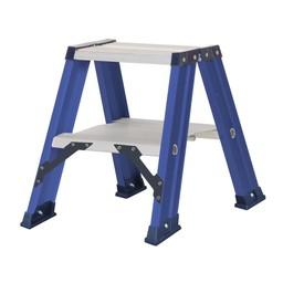 Das Ladders Das Hercules blue escabeau double 2x2 marches DT2B