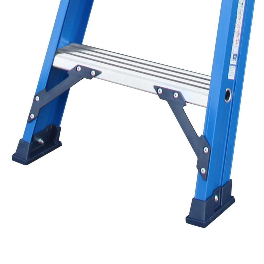 Das Ladders Das Hercules blue dubbele trap 2x2 treden DT2B