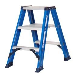 Das Ladders Das Hercules blue Doppel-Klapptritt 2x3 Stufen DT3B