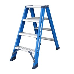 Das Ladders Das Hercules blue dubbele trap 2x4 treden DT4B