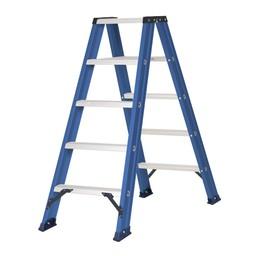 Das Ladders Das Hercules blue Doppel-Klapptritt 2x5 Stufen DT5B