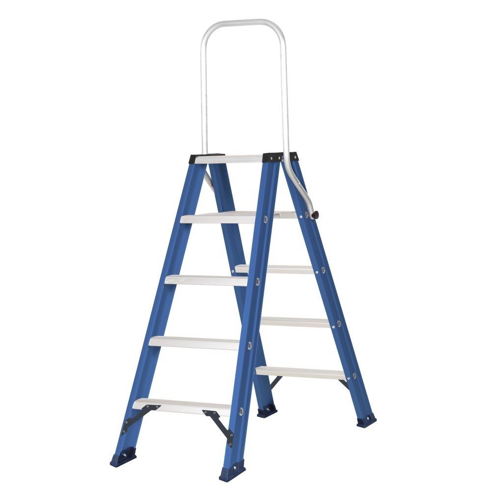 Das Ladders Das hercules blue dubbele trap 2x5 treden DT5B