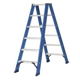 Das Ladders Das Hercules blue dubbele trap 2x6 treden DT6B