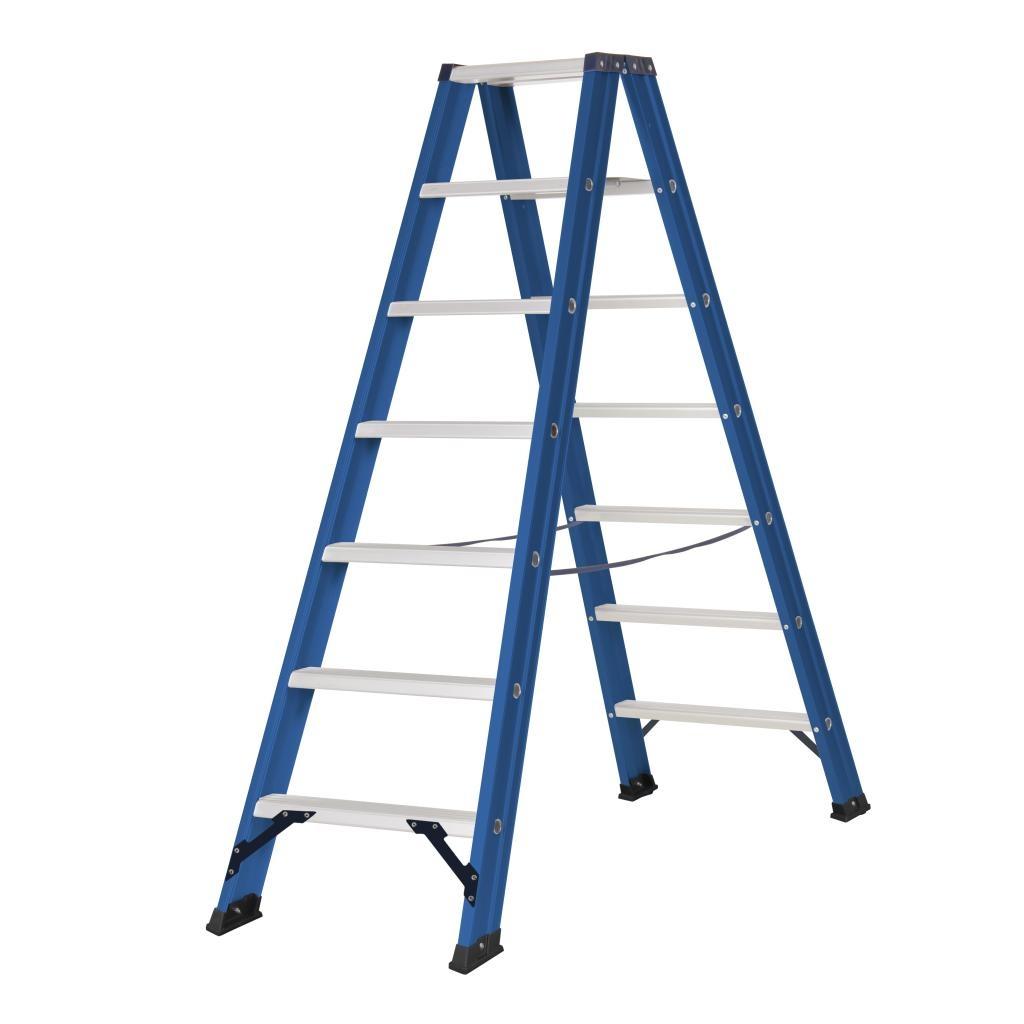 Das Ladders Das Hercules blue dubbele trap 2x7 treden DT7B