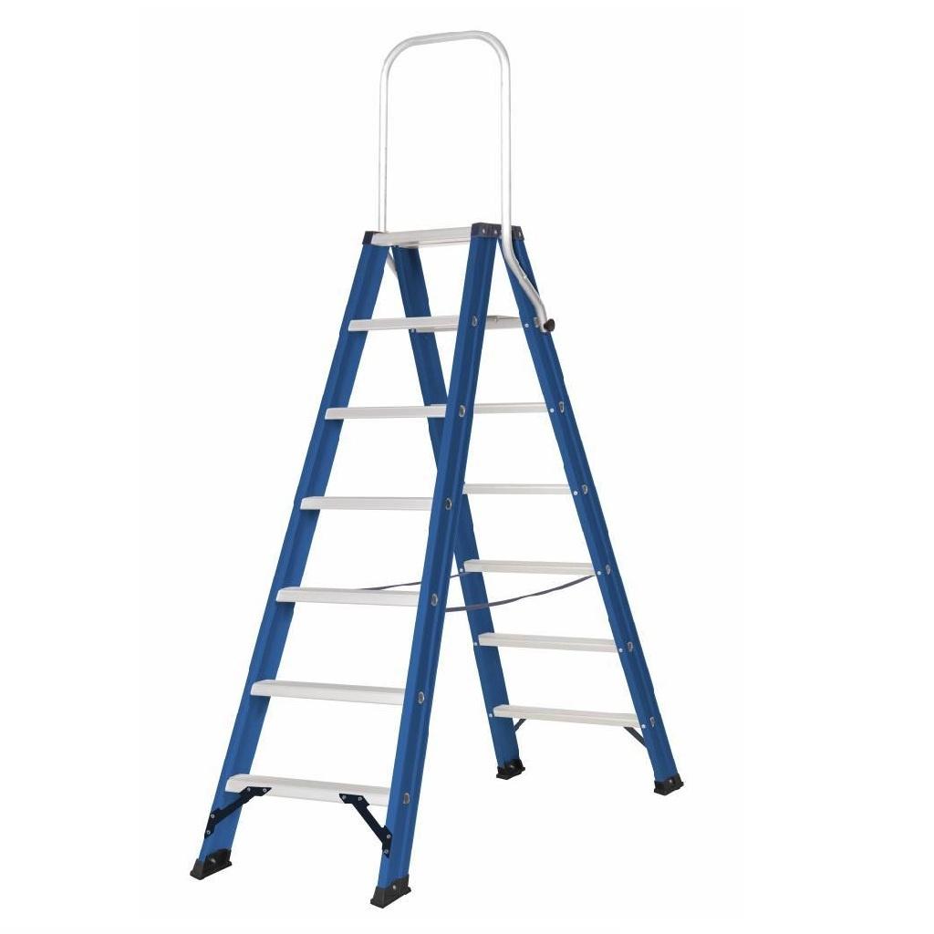 Das Ladders Das Hercules blue Doppel-Klapptritt 2x7 Stufen DT7B