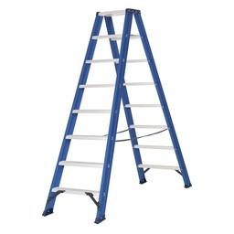Das Ladders Das Hercules blue Doppel-Klapptritt 2x8 Stufen DT8B