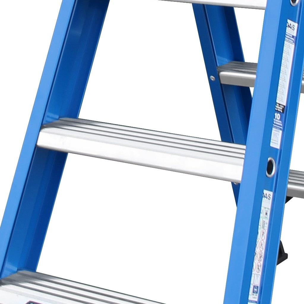 Das Ladders Das Hercules blue dubbele trap 2x8 treden DT8B