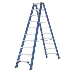 Das Ladders Das Hercules blue dubbele trap 2x10 treden DT10B