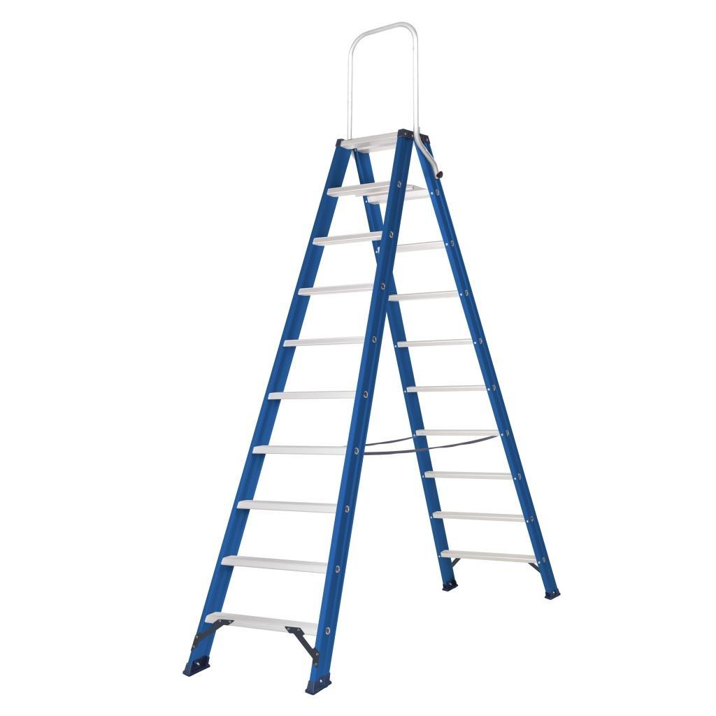 Das Ladders Das Hercules blue Doppel-Klapptritt 2x10 Stufen DT10B