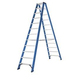 Das Ladders Das Hercules blue Doppel-Klapptritt 2x12 Stufen DT12B