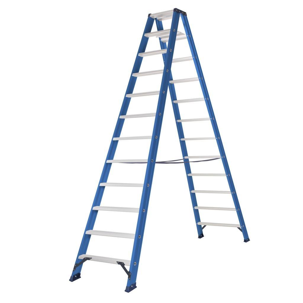 Das Ladders Das Hercules blue dubbele trap 2x12 treden DT12B