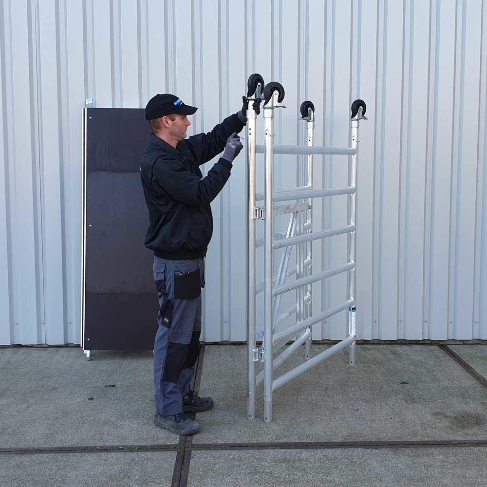 EuroScaffold Zimmerfahrgerüst XL 135x190  Arbeitshöhe 4 m