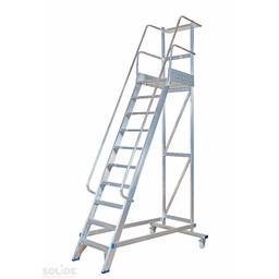 Solide Solide escalier de rayonnage 10 marches MBT10