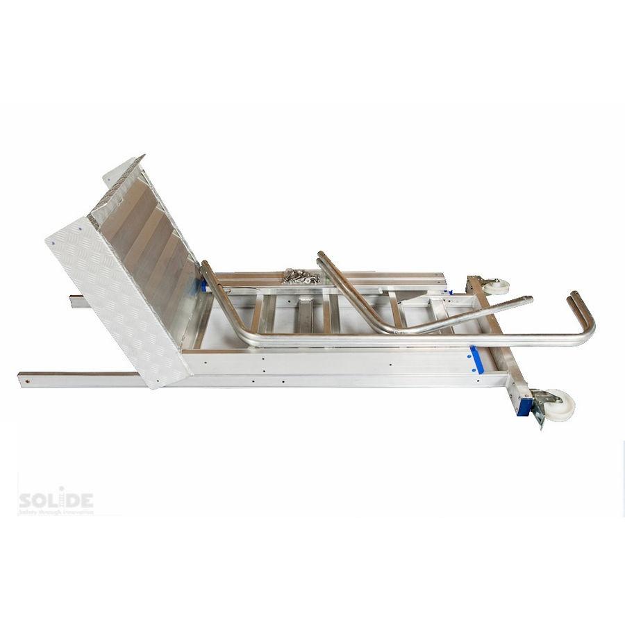 Solide Solide Podestleiter fahrbar 10 Stufen MBT10
