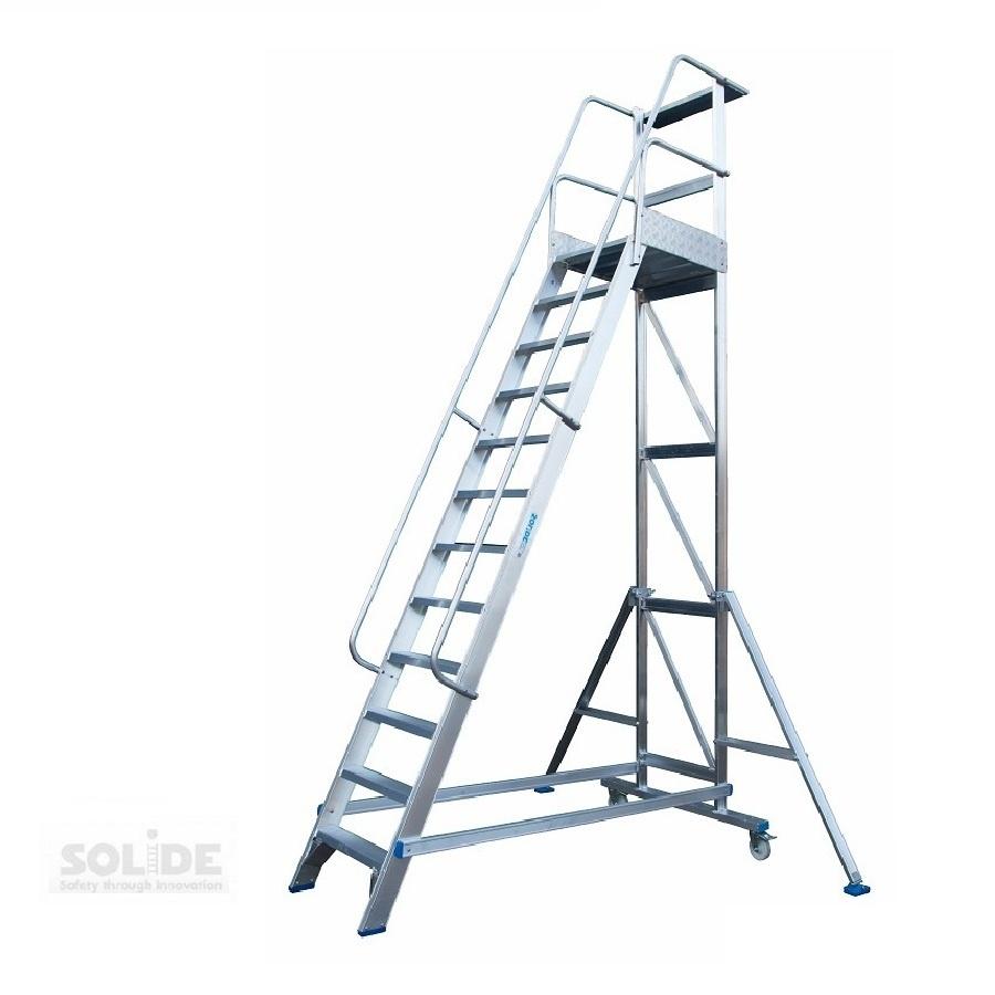 Solide Solide Podestleiter fahrbar 12 Stufen MBT12