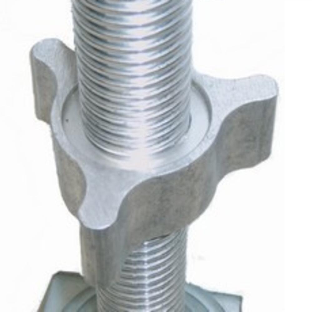 Steigerwielen 200 mm met alu spindel 800 Kg nylon (4 stuks)