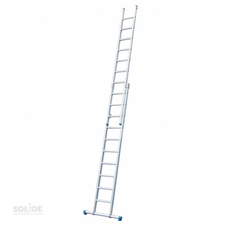 Solide Solide 2-delige ladder 2x16 sporten recht met stabilisatiebalk