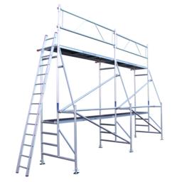 ASC Échafaudage de rénovation 1,35 x 8,0 x 5,0 m hauteur travail