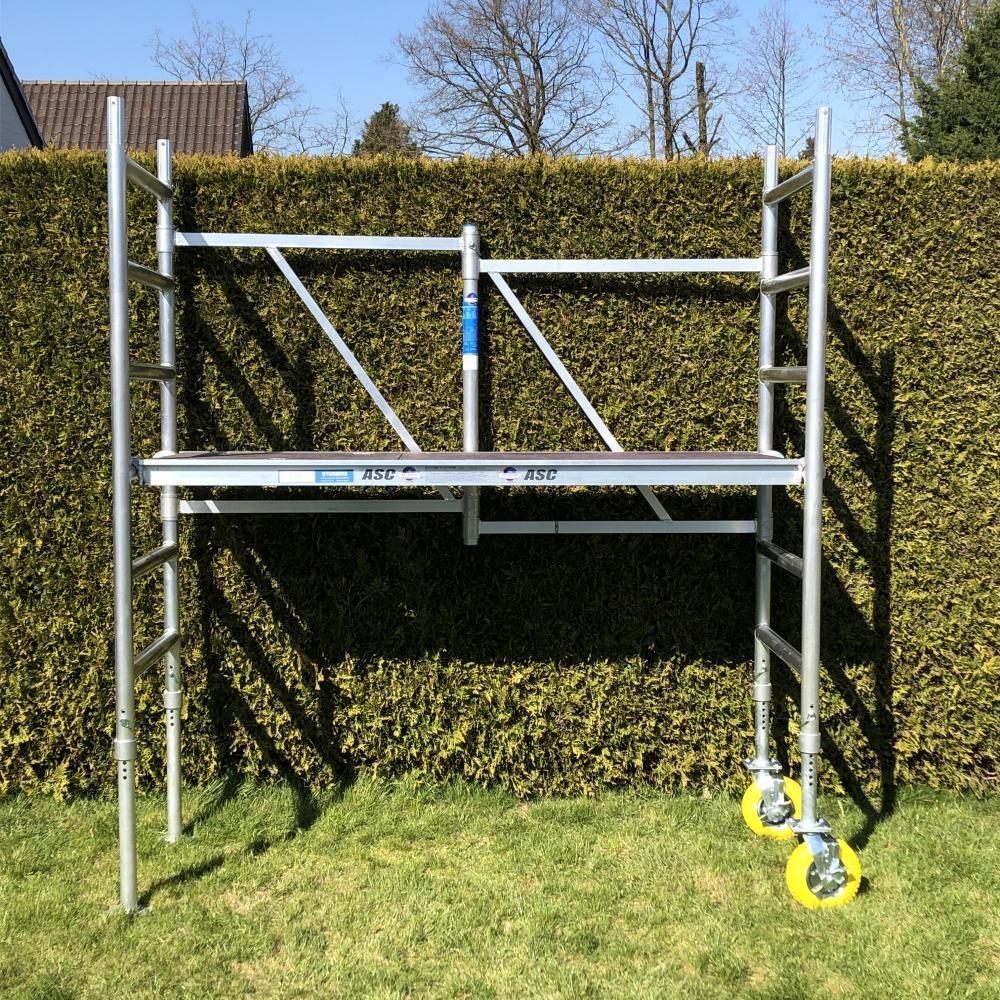 Räder für Gartengerüste höhenverstellbar