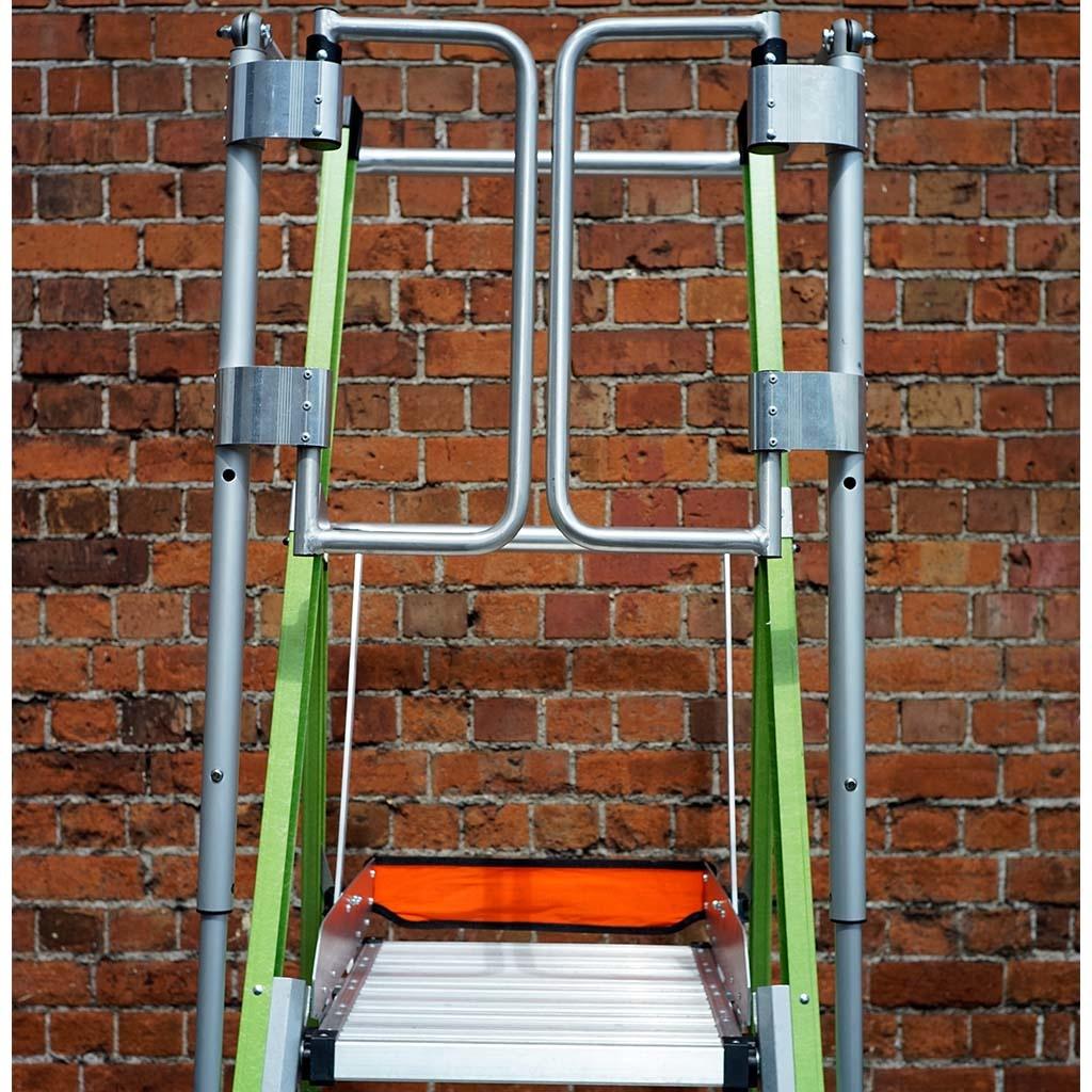 Little Giant Little Giant Safety Cage Podestleiter GFK 6 Stufen