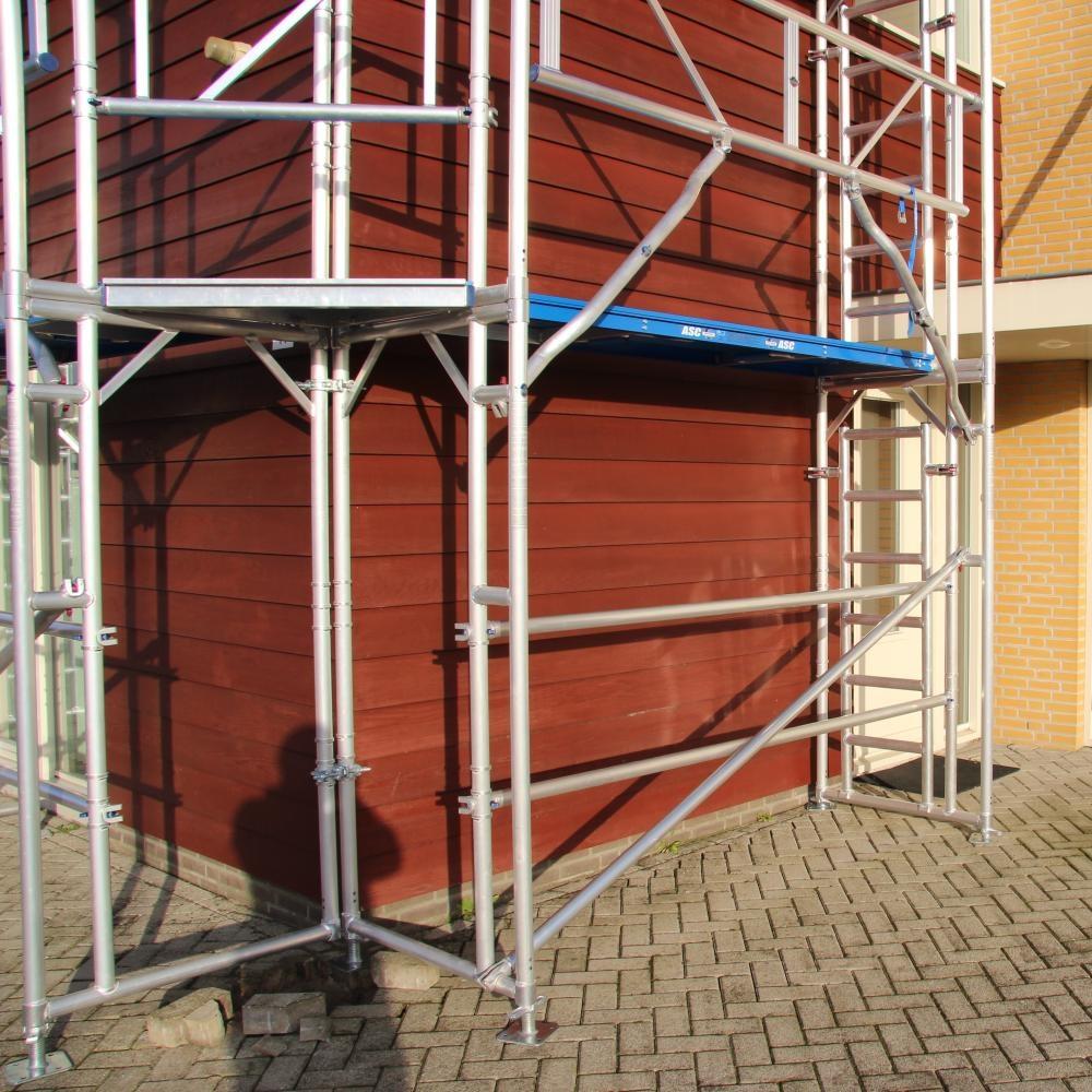 ASC Alu-Fassadengerüst 100 m² - 0,90 m x 10,00 m x 10,00 m