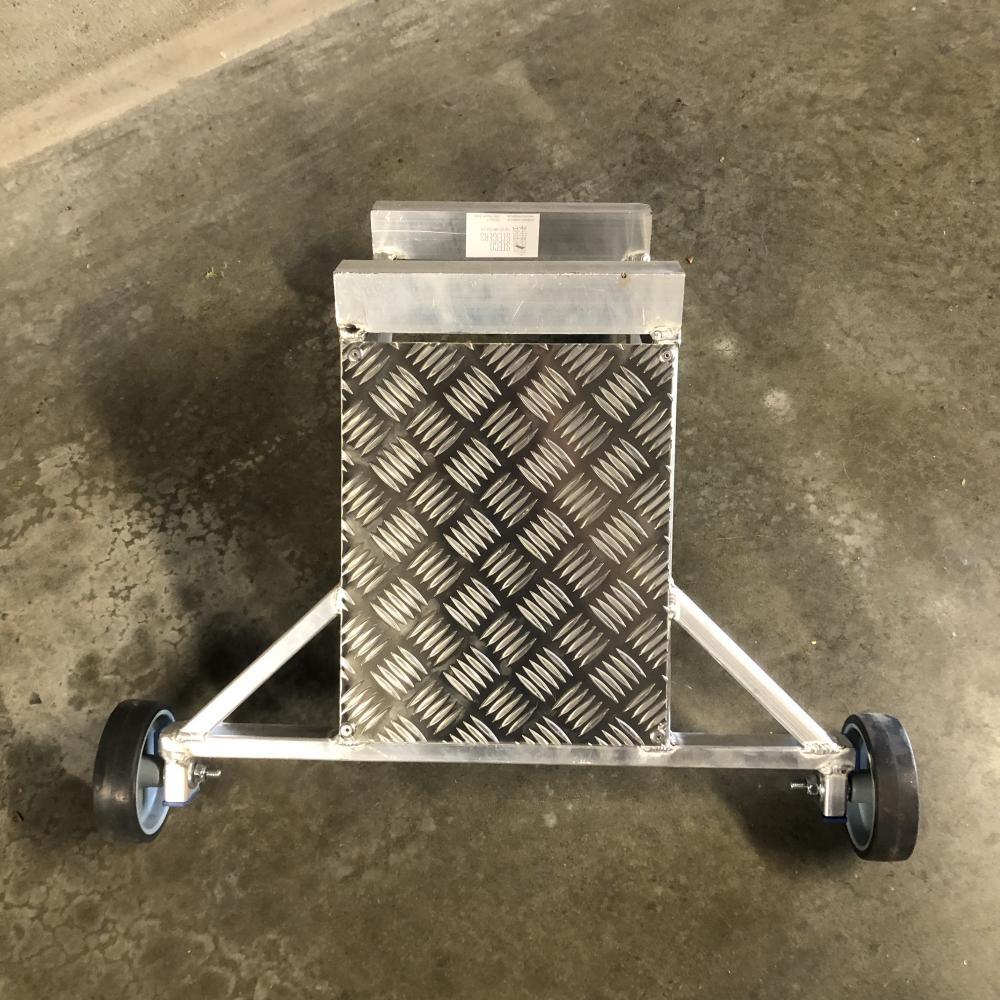 ASC Leiter Wandabstandshalter Aluminium mit Auflagplatte