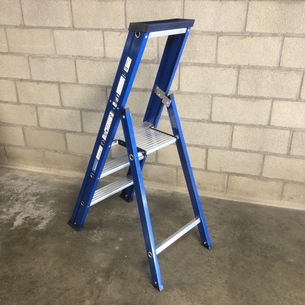 Das Ladders Das Hercules blue Aluminium-Stehleiter 3 Stufen ET3B