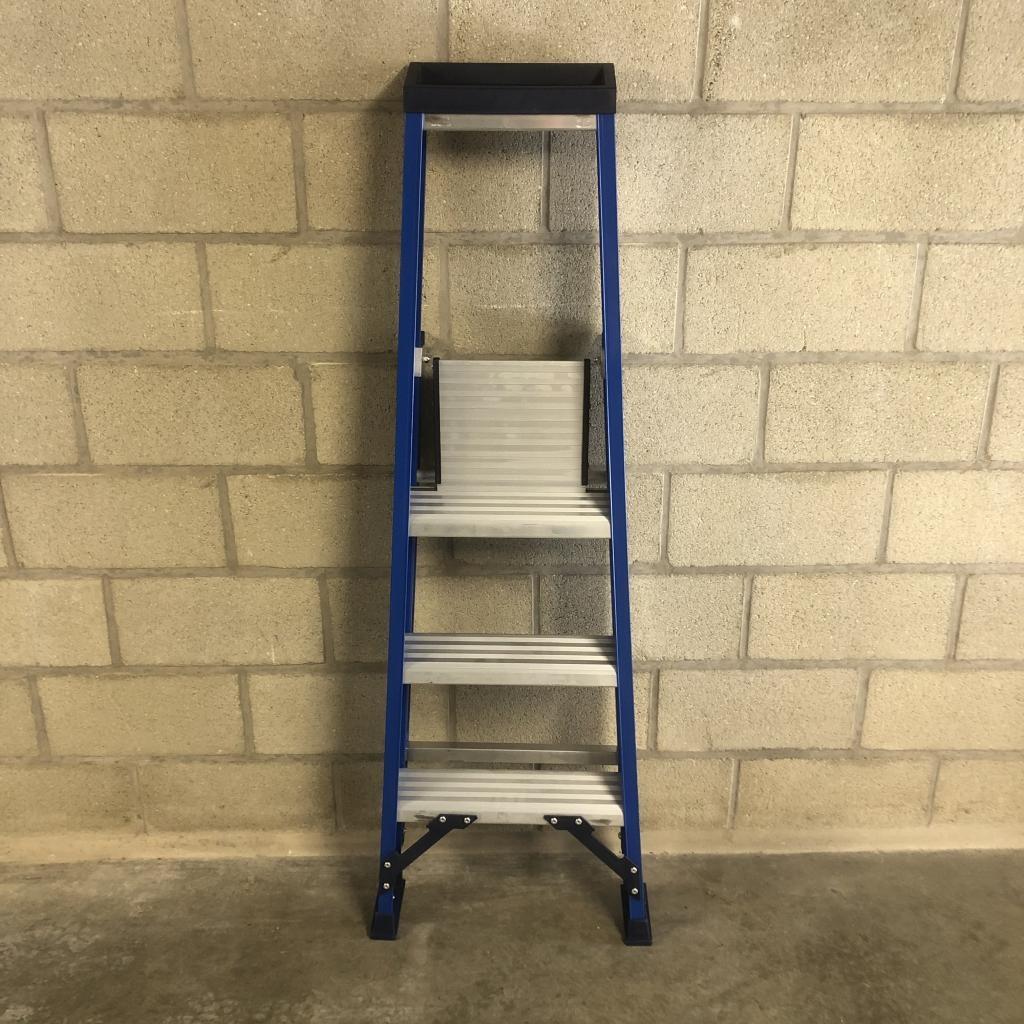 Das Ladders Das Hercules blue trapladder 3 treden ET3B