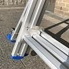 Solide Solide Glasreinigerleiter 3x14 Sprossen
