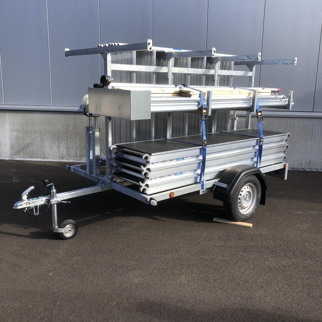 Rollgerüst 1,35 x 2,50  x 12 m mit Anhänger