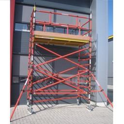 Échafaudage en fibre de verre 120 x 250 x 8 m hauteur travail