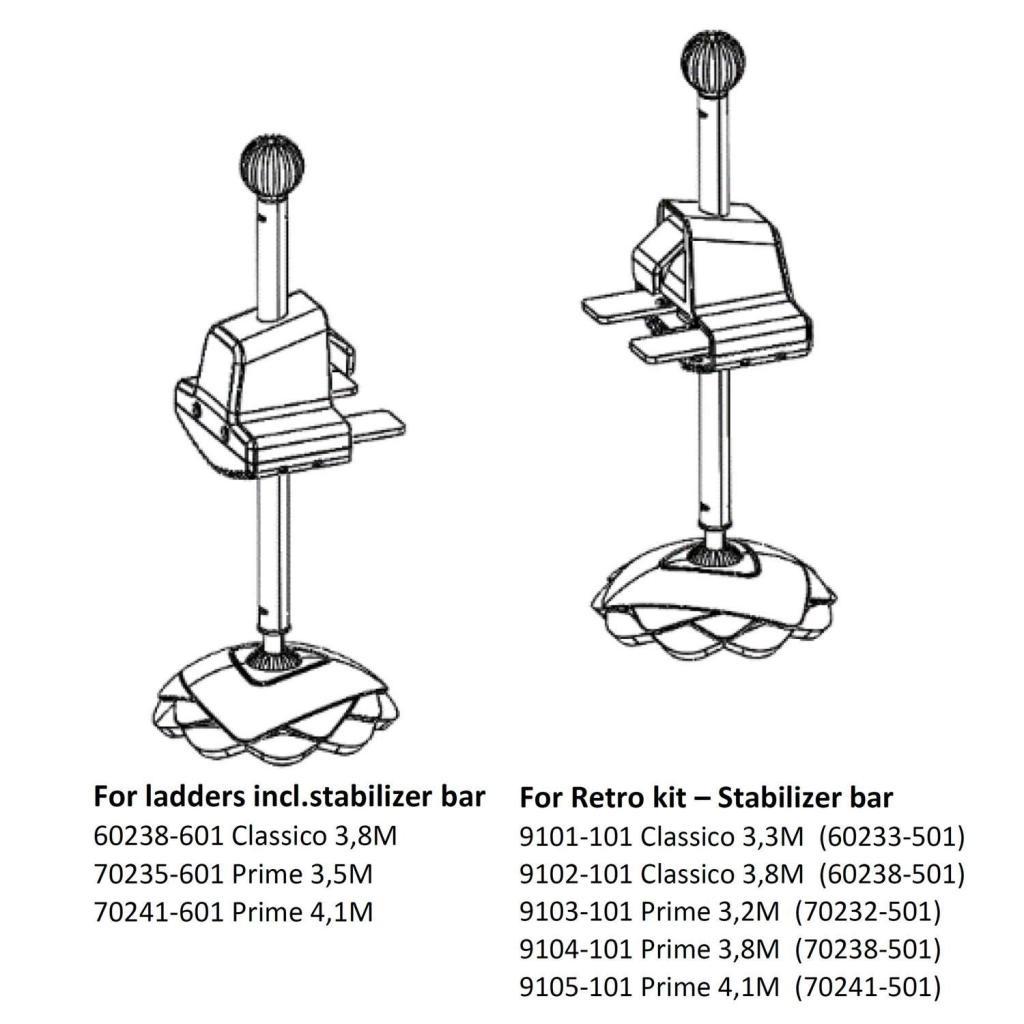 Telesteps Telesteps verstelbare voeten voor stabilisatiebalk