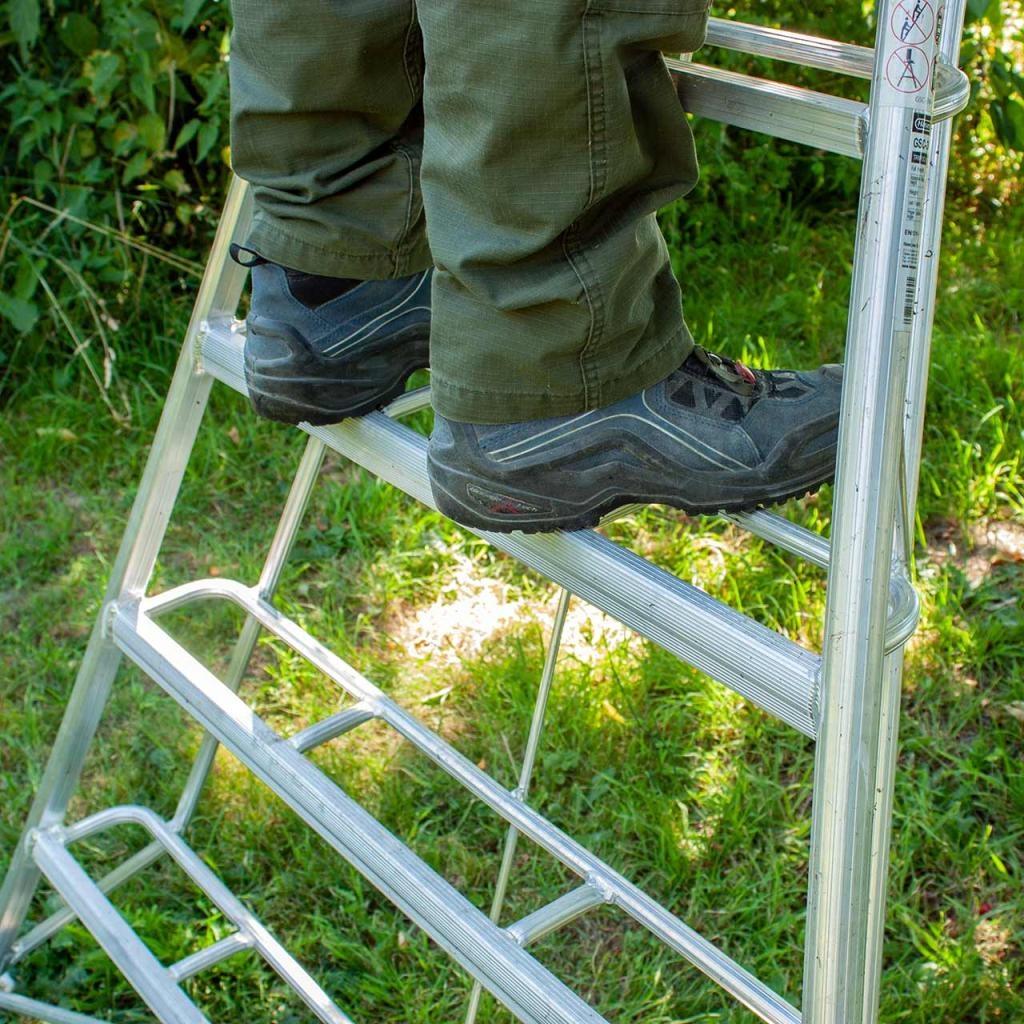 Vultur tripod ladder 240 cm met 1 poot verstelbaar
