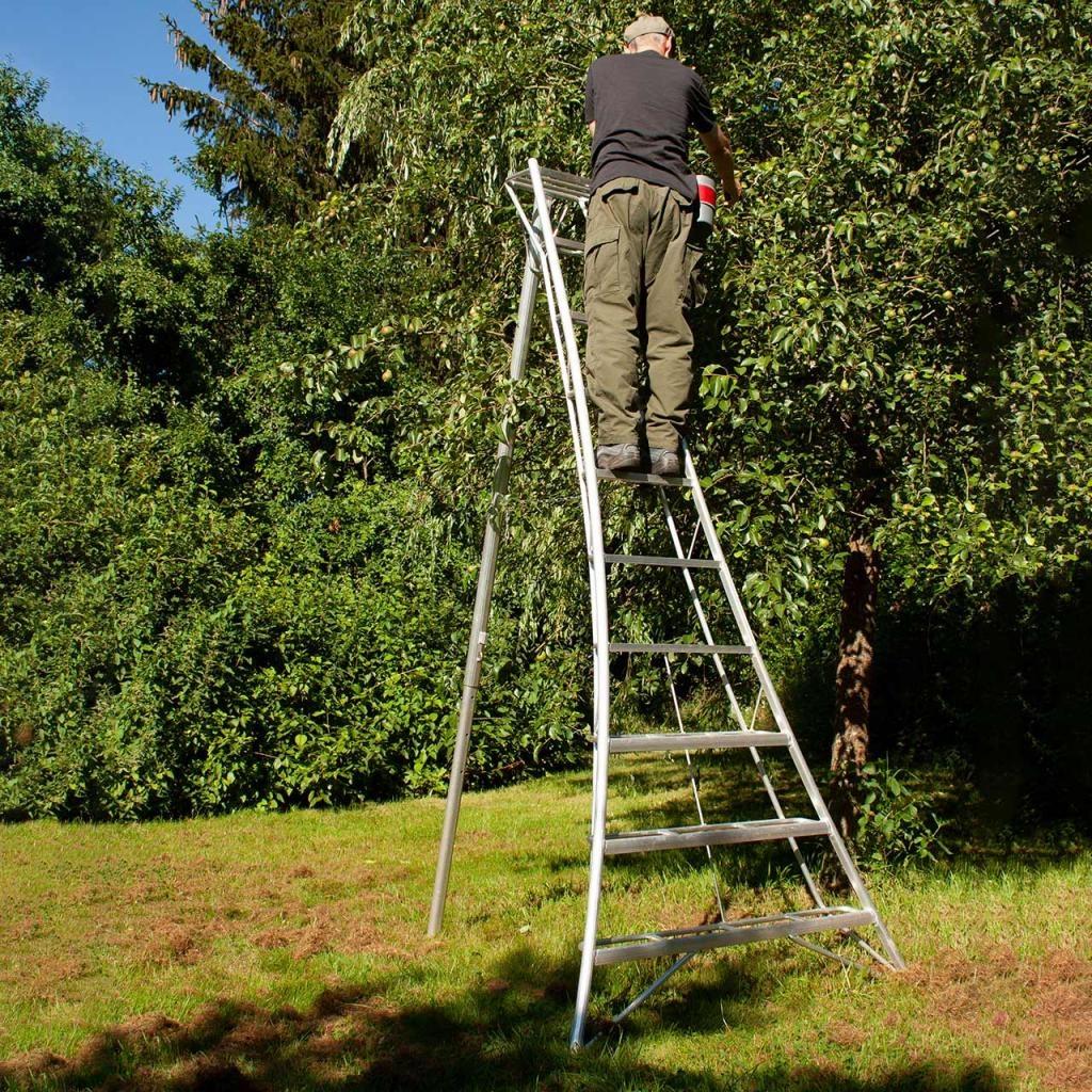 Vultur tripod ladder 300 cm met 1 poot verstelbaar