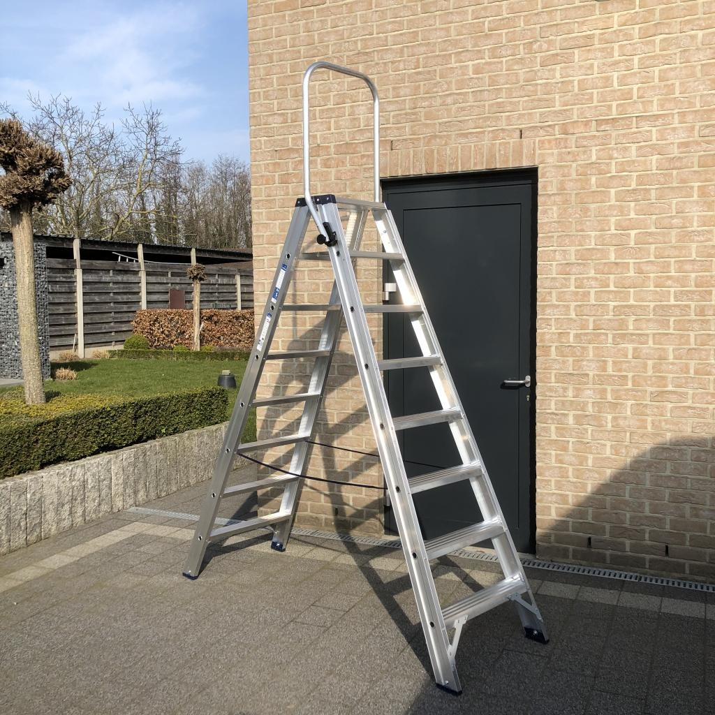 Das Ladders Das Hercules ano dubbele trap 2 x 8 treden DT8A