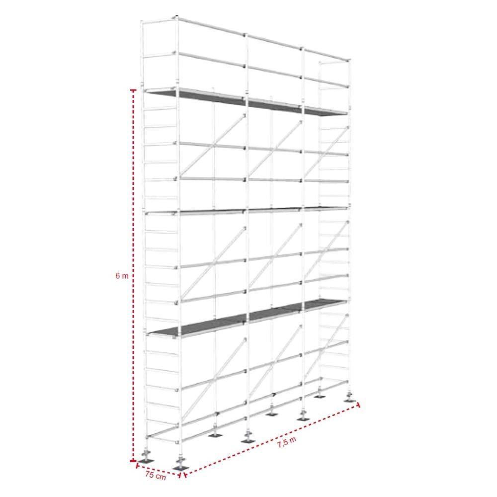 ASC Gevelsteiger 75 cm - 7,50 m x 8 m
