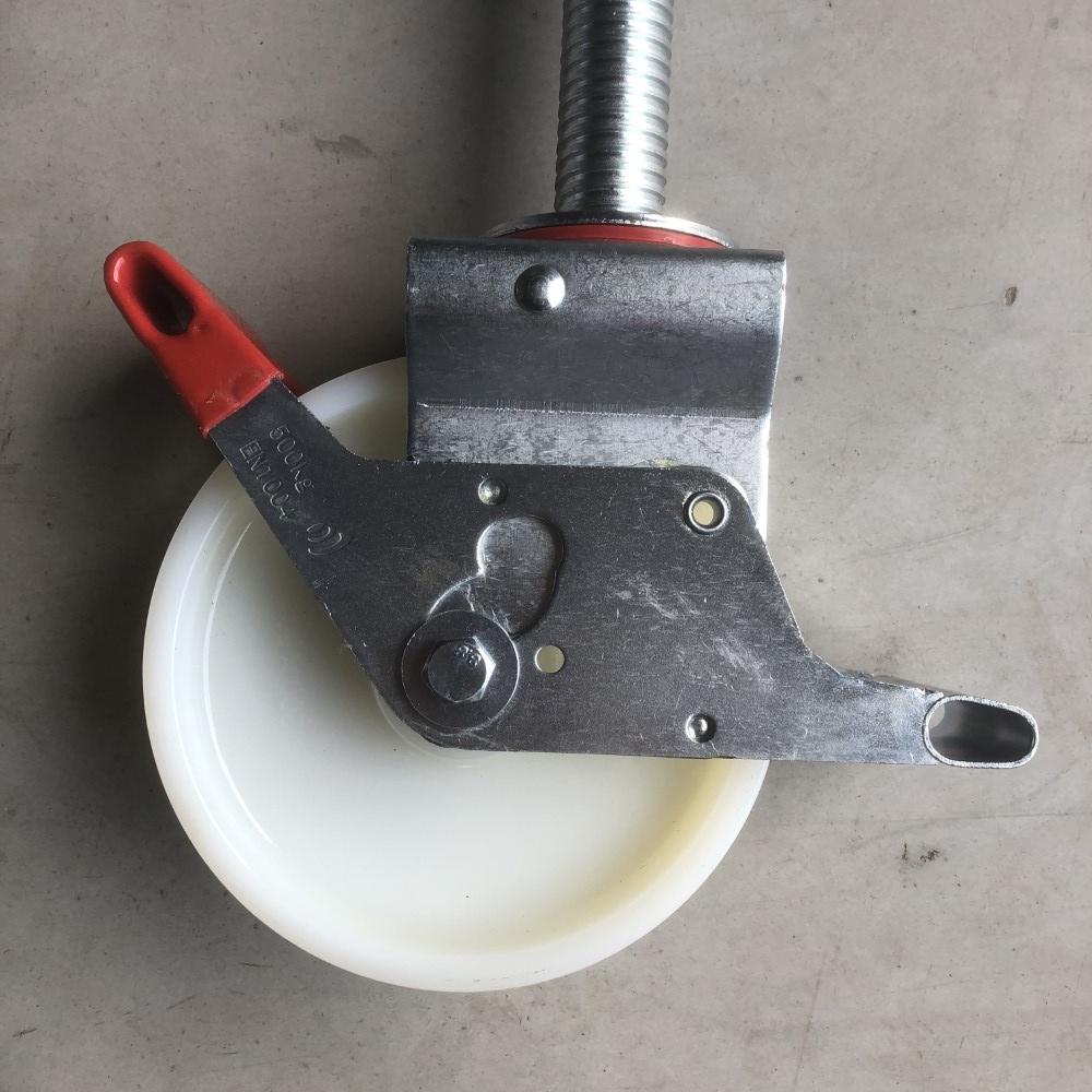Steigerwiel Ø 200 mm met stalen spindel 500 Kg nylon (4 stuks)