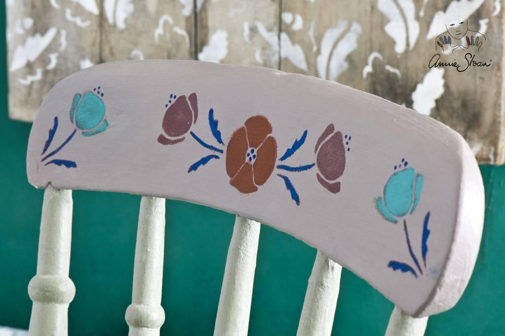 Annie Sloan Sjabloon A4: Arctic Poppy